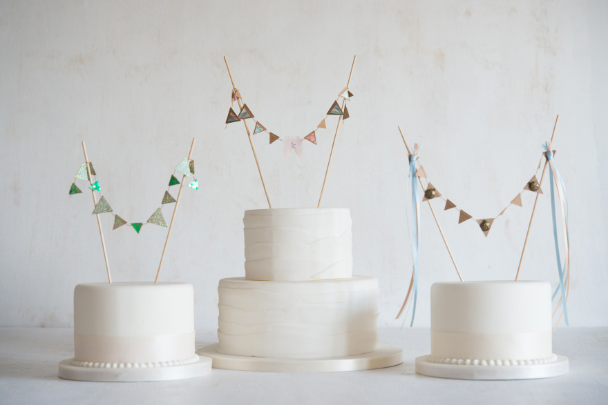 Mini Paper Bunting - DIY Cake Bunting - Mini Bunting for Cakes and Cupcakes - Wedding Bunting Ideas
