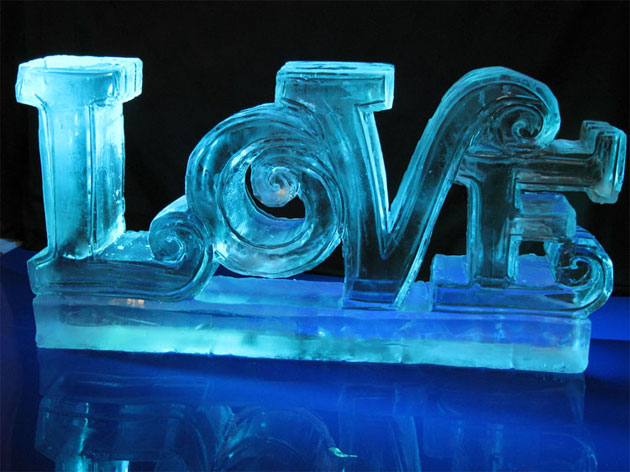 Love Ice Wedding Sculpture Table Decoration