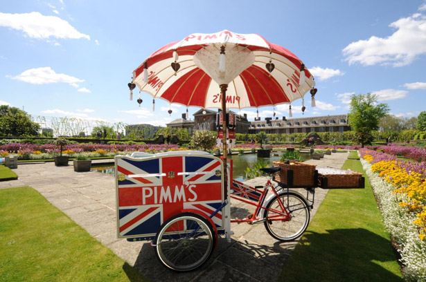 Pimms wedding cart