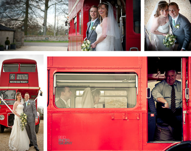 Vintage Wedding Bus Red