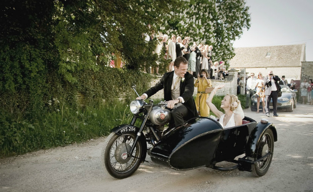Motor Bike Side Car by Wild Weddings
