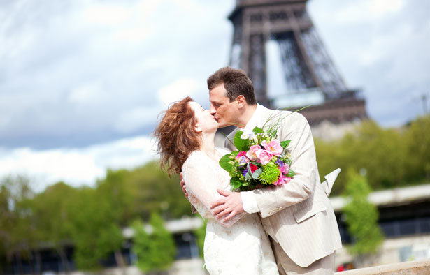Bride and Groom in Paris