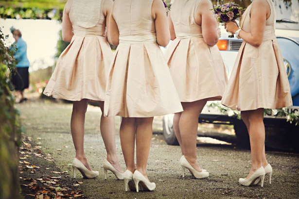 Bridesmaid vintage dresses and shoes