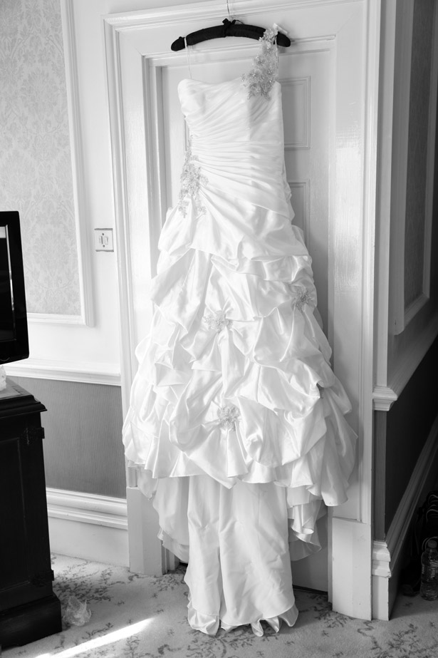 Wedding dress diamonte