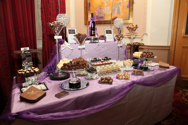 Purple sweet buffet