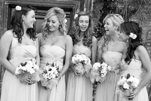 Bridesmaids Monochrome Photography