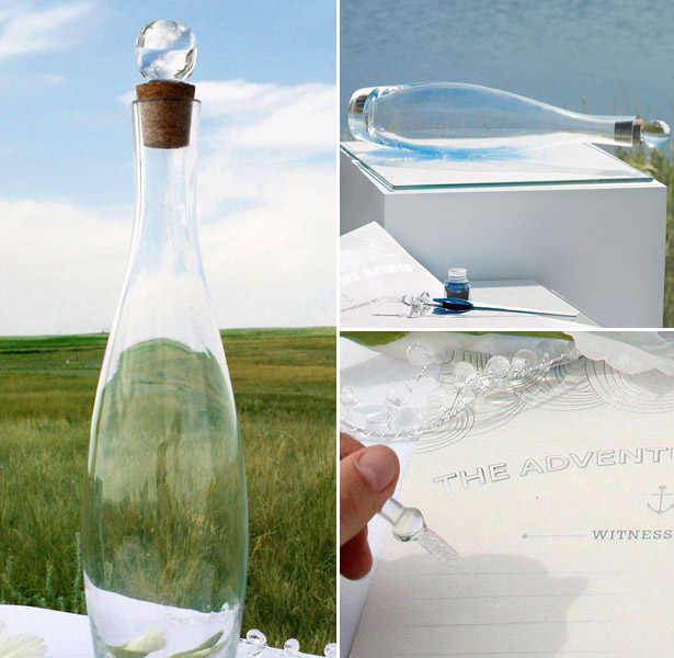 bottle guest book wish at confetti