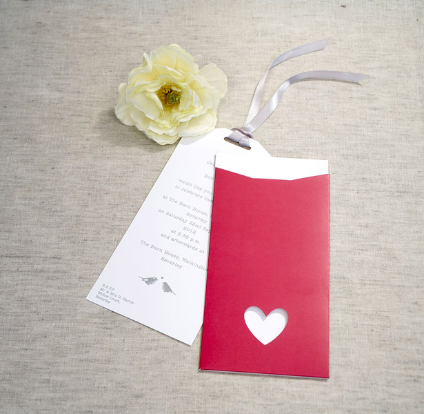Eco chic wedding invitation