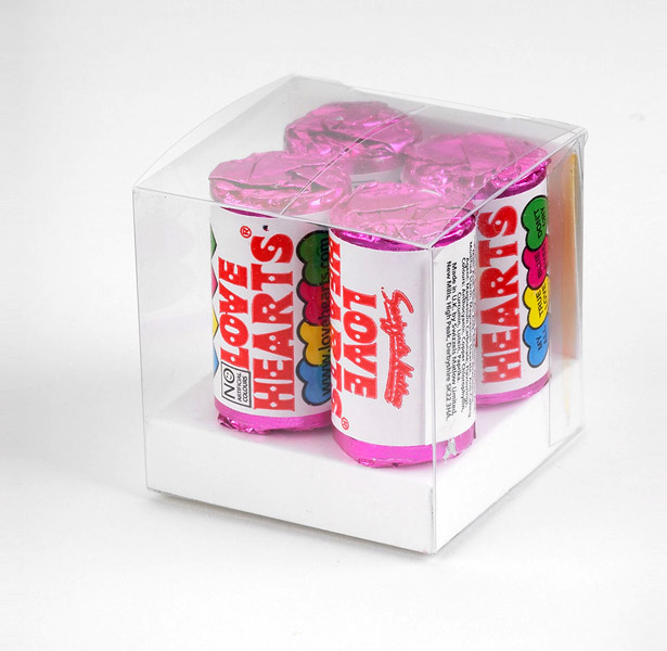 Pack of retro love heart sweets