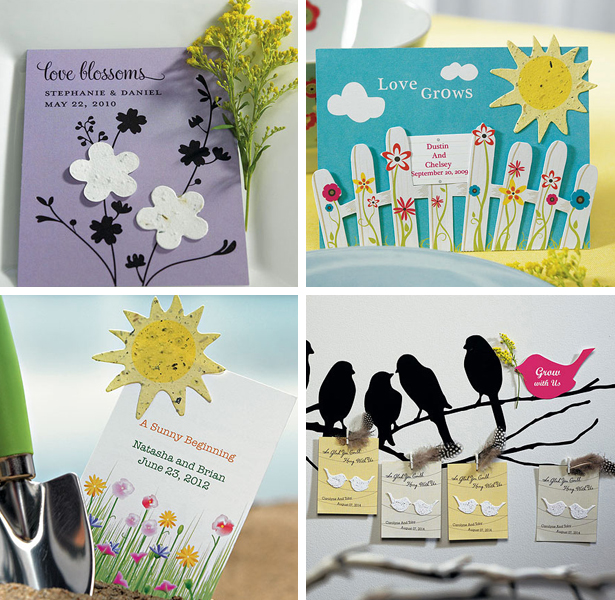 Moodboard eco green gifts marriage birds flowers