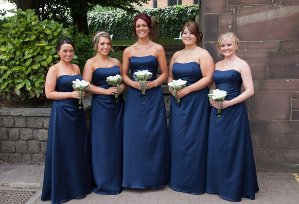 Bridesmaids-in-their-Alfred-Angelo-navy-dresses