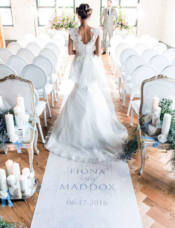 Contemporary-Vintage-Personalised-Aisle-Runner