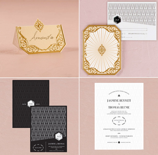 Mood board inspiration of laser cut wedding plan stationery