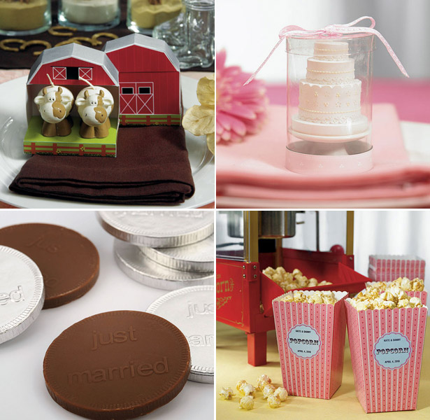 wedding favours chocolate cake money popcorn