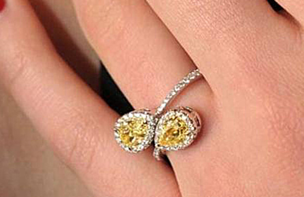 natural fancy coloured diamonds engagement ring
