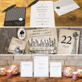 rustic vintage art deco gatsby stationery by theme style