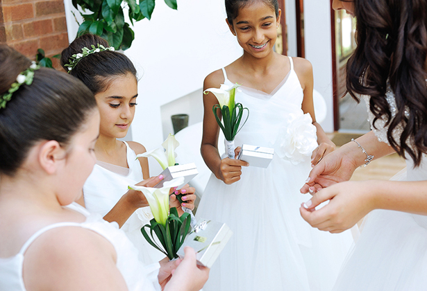 Gifts for the flower girls and usher