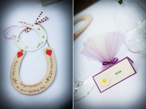 Horse shoe and place card