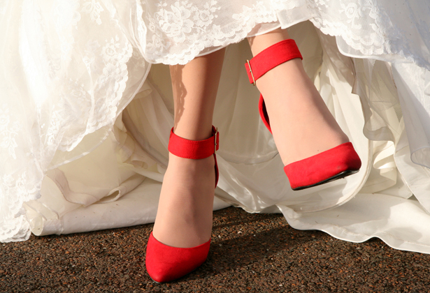 Red bridal shoes 2
