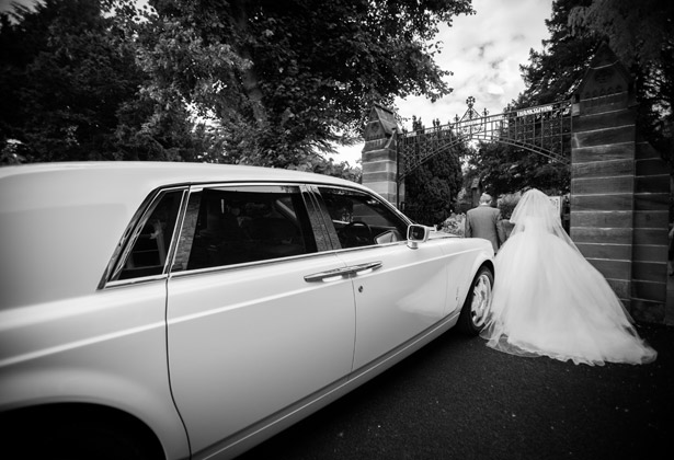 The bride arriving at the ceremony