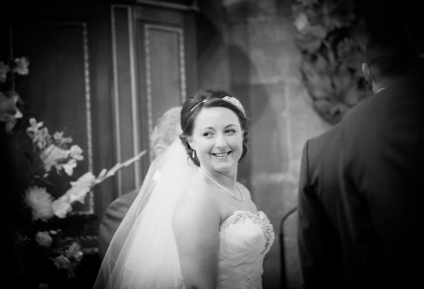 The bride at the alter