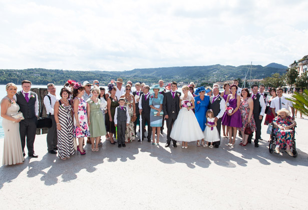 The newlyweds with their guests