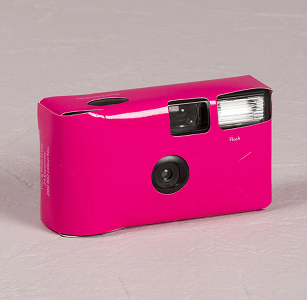 hot pink disposable camera