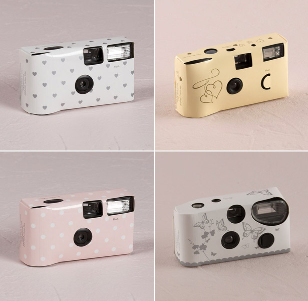 disposable cameras hearts dots butterflies