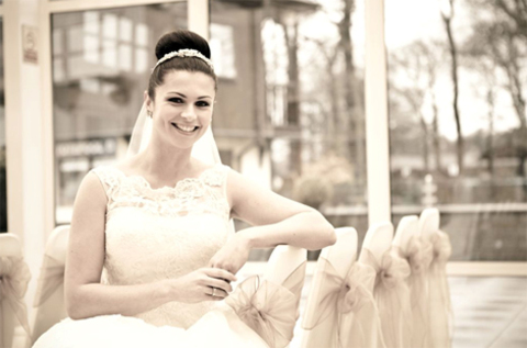 Haydock Park Racecourse Lime Venue Bride