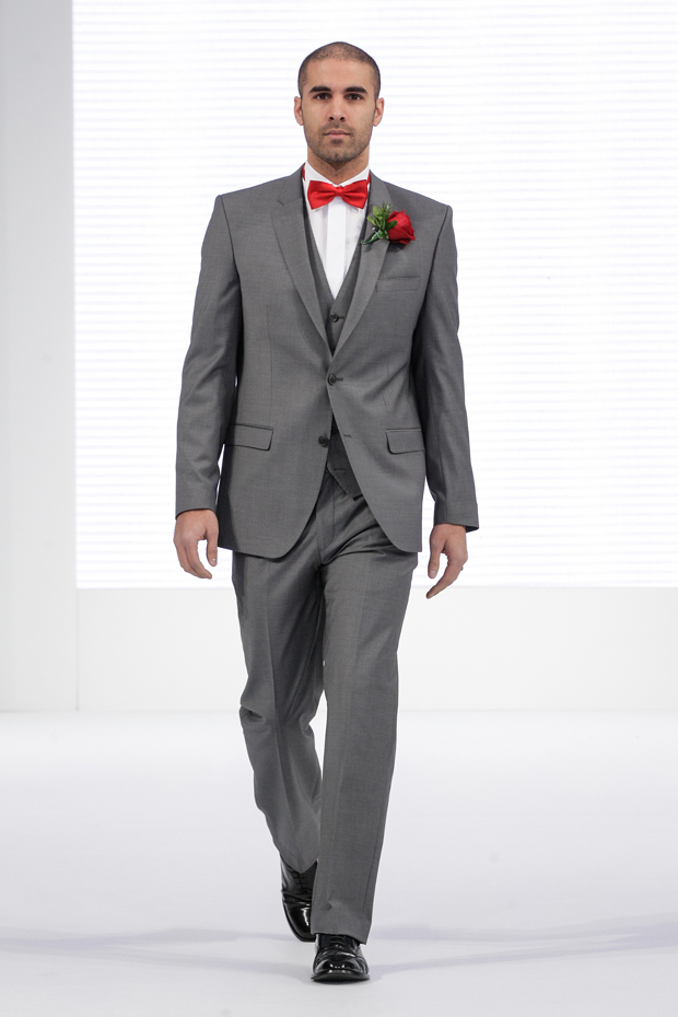 Bow Tie Grey Suit - klejonka