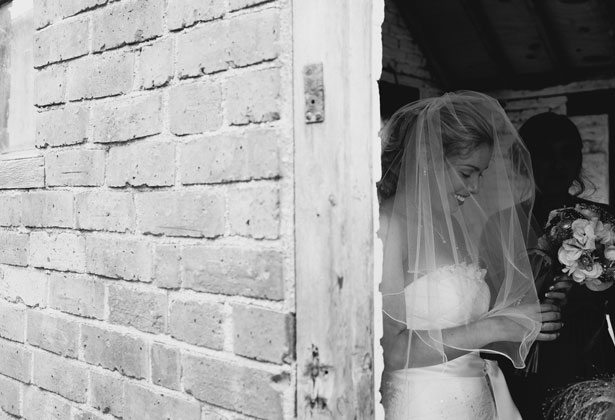 Bride waiting to make her entrance
