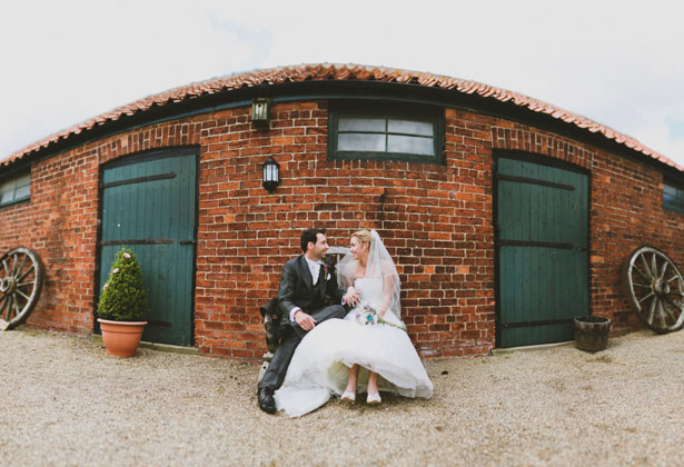 The bride and groom by Sansom Photography