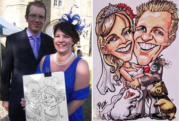 Bride and Groom Wedding Caricature