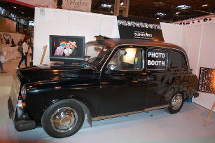 National Wedding Show the taxi cab photo booth