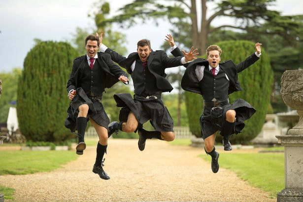 Cameron Ross menswear and kilts for the bridal party