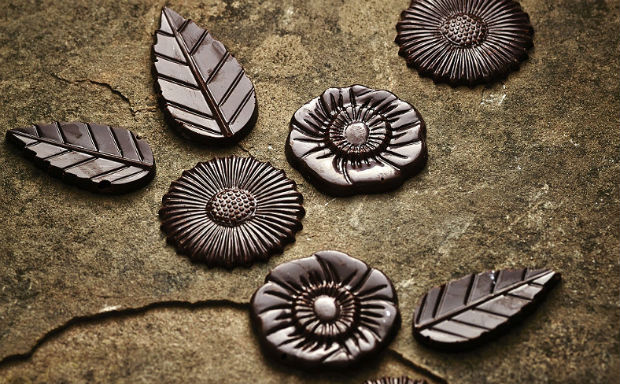 Chocolate flowers from moulds  by Lakeland