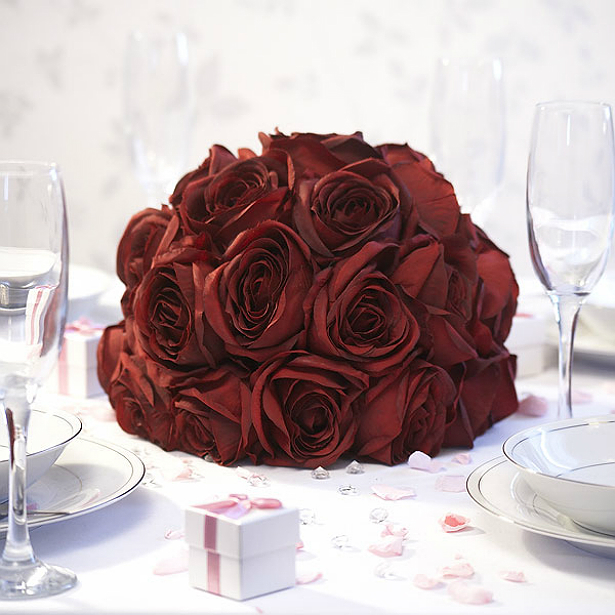 Eternity red rose centrepiece