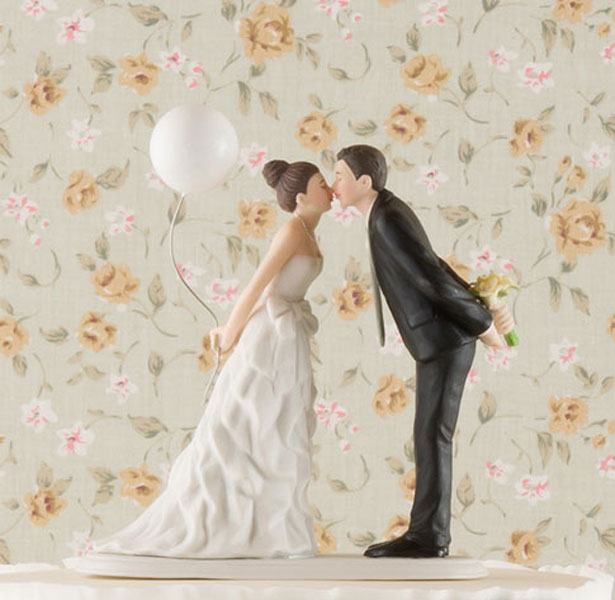 Leaning in for a Kiss Cake Topper