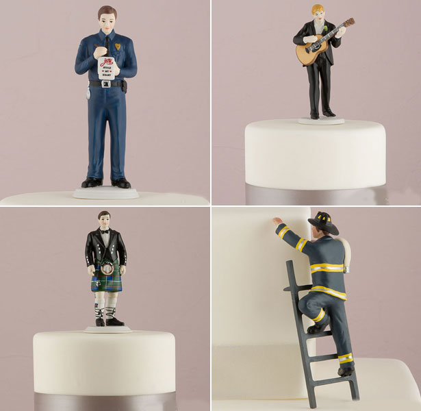 Mix and match groom cake toppers