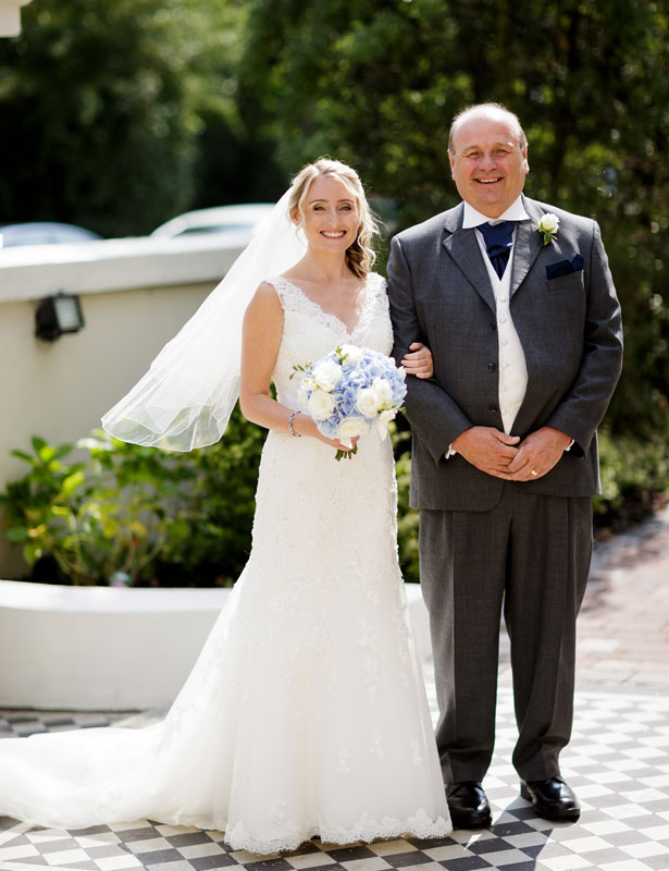 The bride with her father