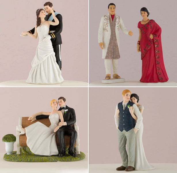 Porcelain Hand painted cake toppers