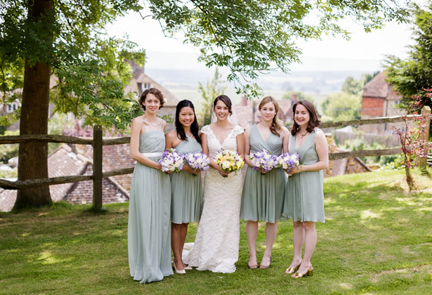 The bride with her bridesmaids by Douglas Fry Photography