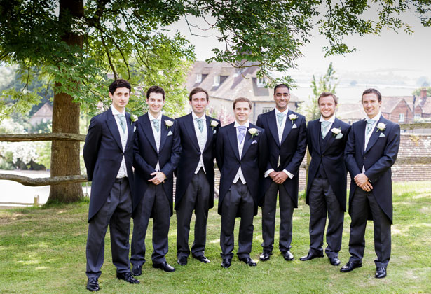 The groom with his groomsmen by Douglas Fry Photography