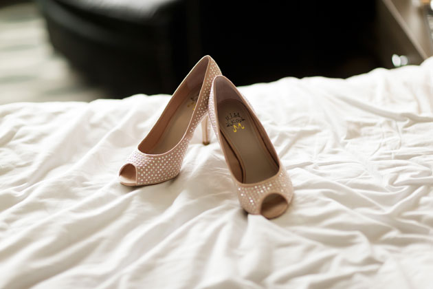 Nude peep toe Kurt Geiger shoes