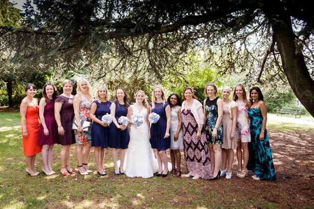 The bride with her friends