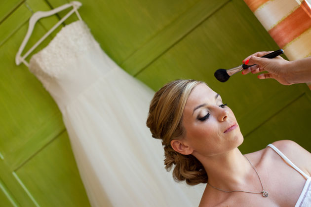 Bride getting ready for her big day