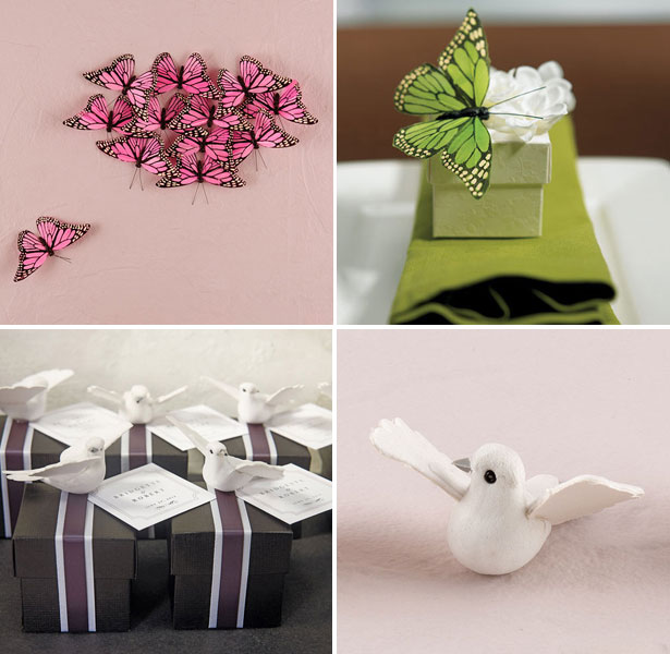 Butterfly and Dove Wedding Favours