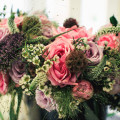 Gemma and Richard's Real Wedding - Rustic Flower Arrangements with Pink Roses