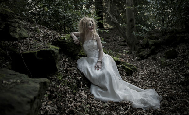 Zombie bride in the woods by Halo and Hobby