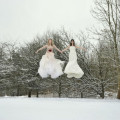 Brides in forest by Halo and Hobby